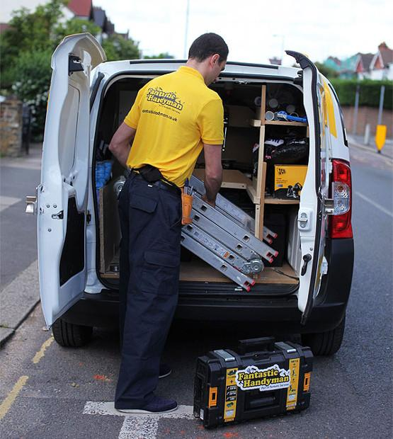 Van full of handyman equipment