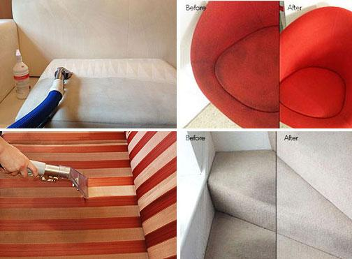 Upholstery cleaning in London before and after results
