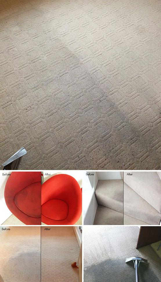 Carpet cleaning in London - before and after results