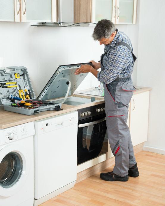 Hob repair service in progress