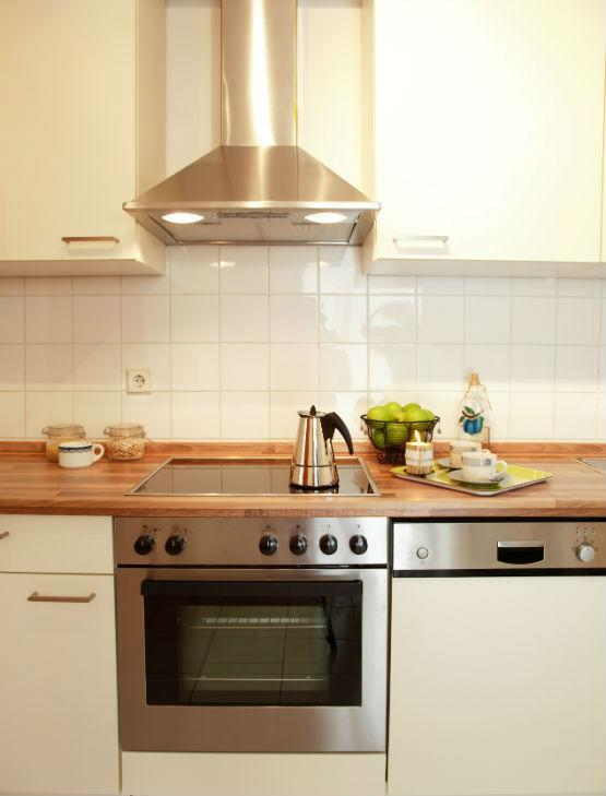 Electric oven hob and hood