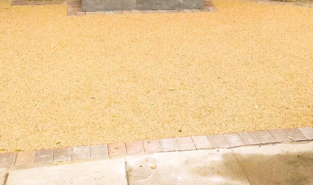 Resin bound patio