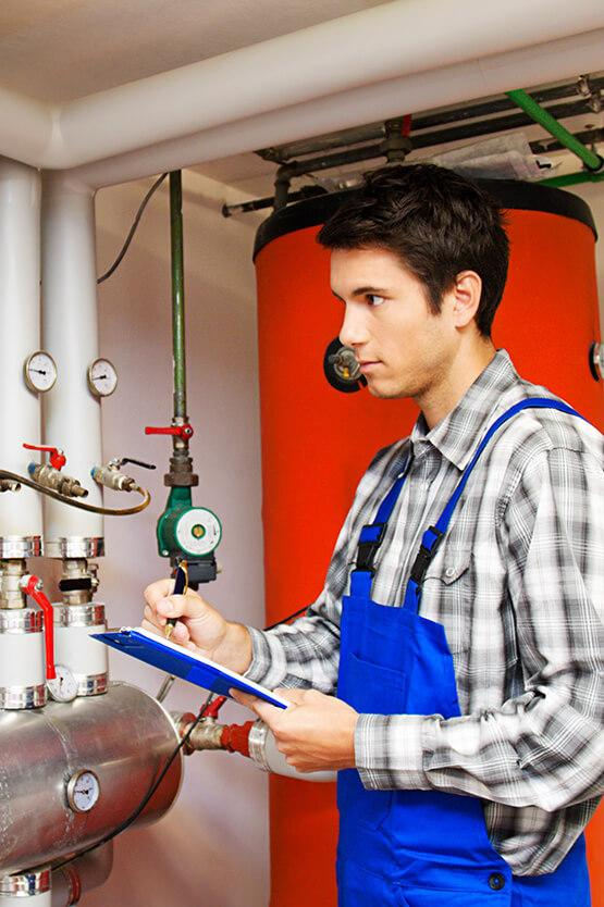 Gas boiler inspection done by gas safety engineer