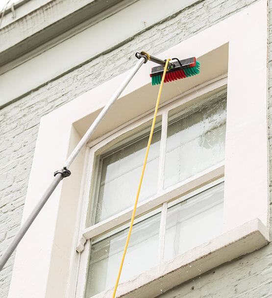 Water Fed Pole Window Cleaning Technique